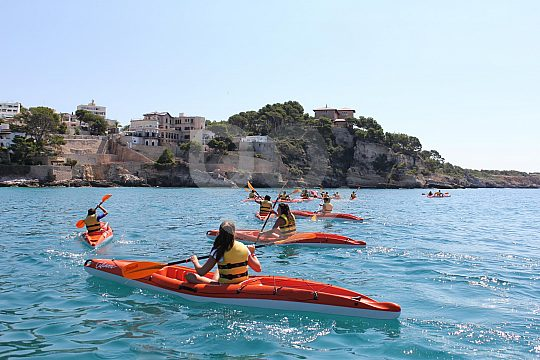 In Cala Mayor with the kayak