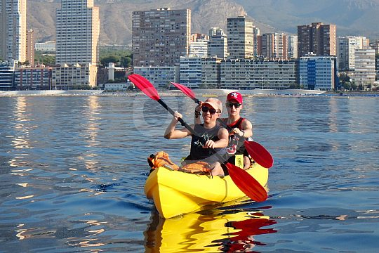 Kayaktour auf dem Mittelmeer