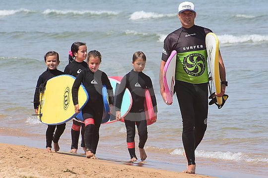 Kids surfing lessons in Costa de Cantabria
