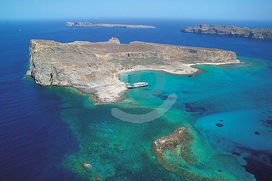 Swimming in lagoon of Balos in Crete