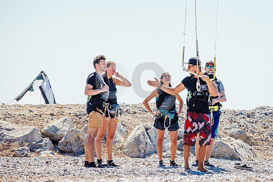 Beginners courses for kiters on Rhodes