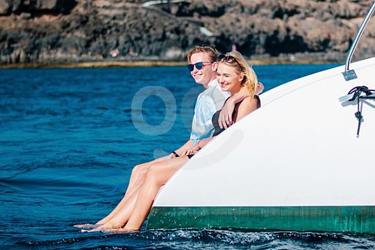 Meer genießen an Bord eines Katamarans