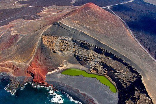 Volcanic crater landscape in Lanzarote