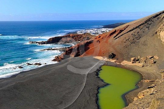 beaches with lava sand in Lanzarote