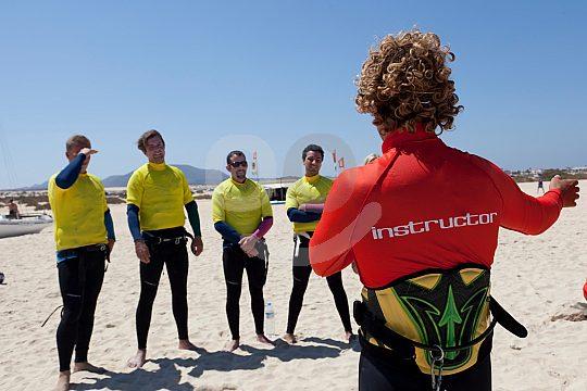 Fuerteventura kitesurf lessons from experienced teacher