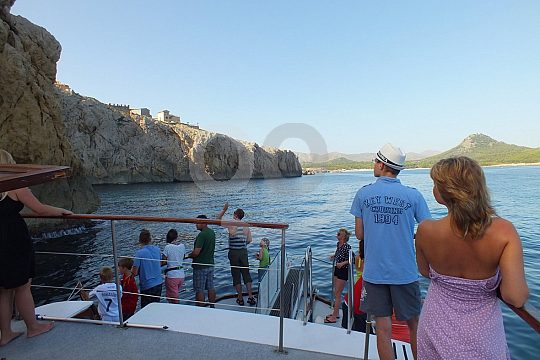 from Cala Ratjada on an excursion by boat
