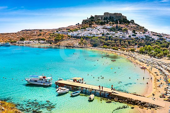 Boat trip to Lindos from Rhodes town