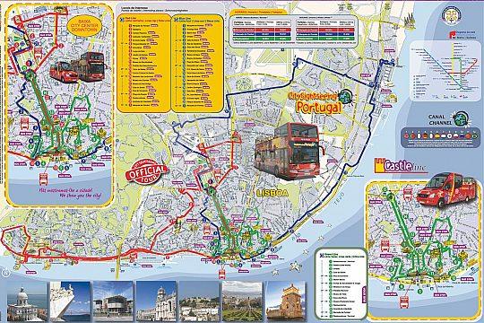 Map of City sightseeing bus Lisbon