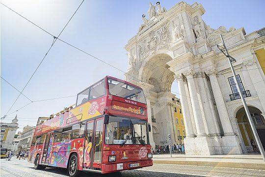 Bus trip through Lisbon