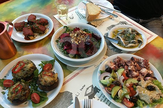 Delicious meal in Lissos on Crete