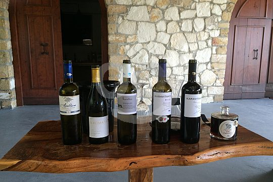 Wine tasting at Jeep Tour from Chania