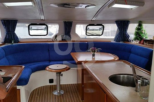 luxurious catamaran in Mallorca