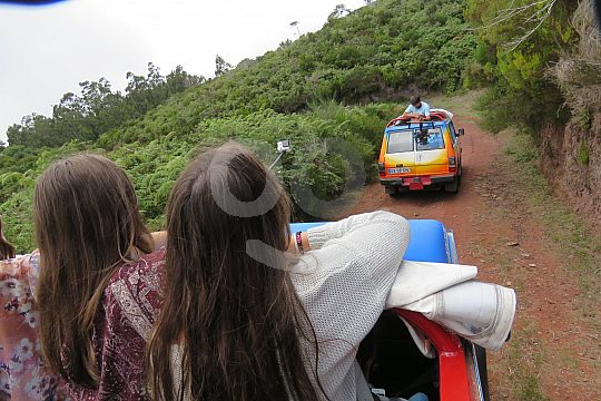 on jeep tour in Madeira