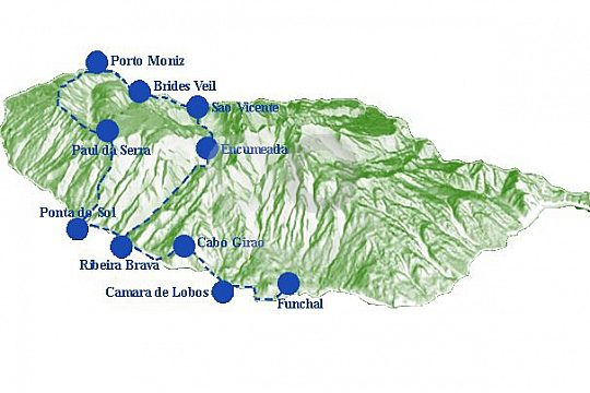 Madeira Tour Peaks and Waterfalls