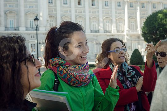 guide on the Madrid walking tour
