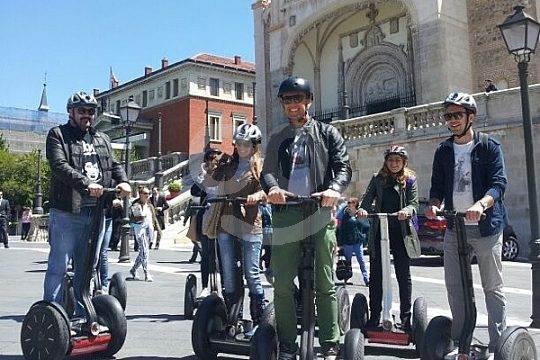 on guided city tour in Madrid by Segway