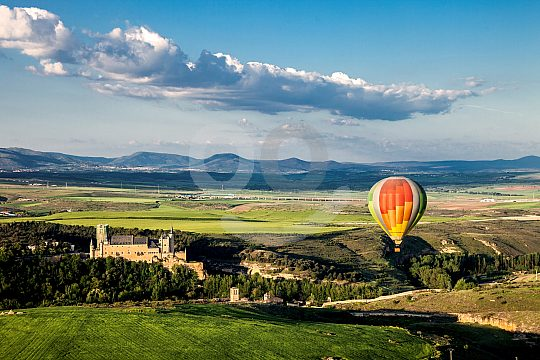 hot air balloon ride over Madrid