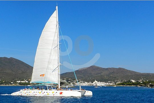 catamaran on the Costa Brava