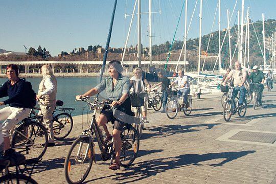 Ausflug mit dem Fahrrad in Malaga