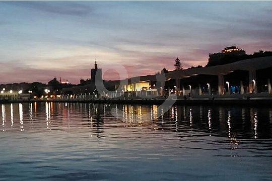 watch the sunset in Malaga