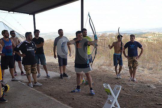 men at archery near Granada
