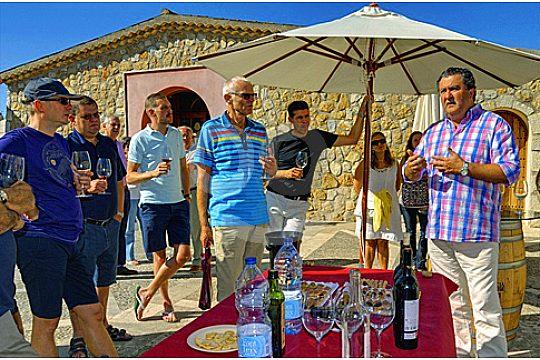 group socialising in Mallorca
