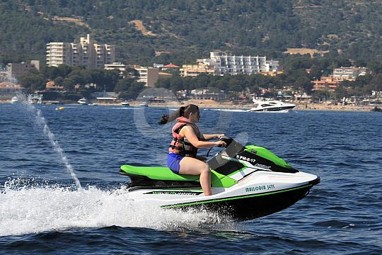 ride a jetski in front of Santa Ponsa