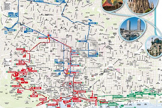 routes of the Barcelona Sightseeing Bus