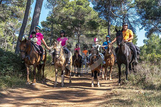 Menorca Reitausflug durch die Wälder