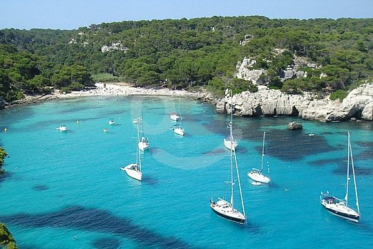 Menorca boat trip to paradisial beaches