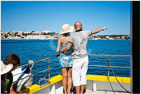 during the harbour tour on Menorca