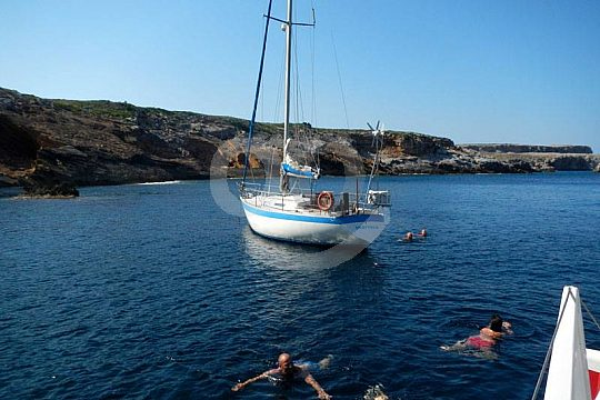 anchoring and snorkeling in Fornells
