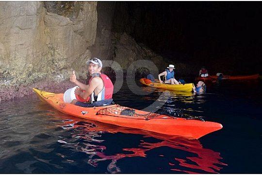 snorkel Menorca canoe