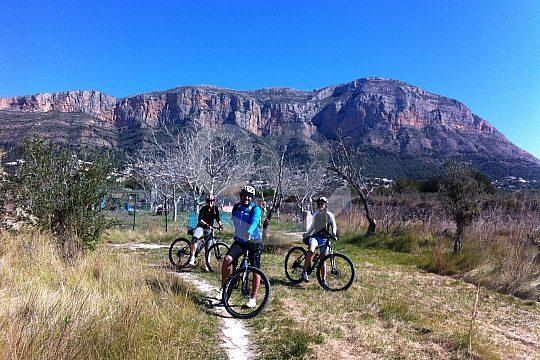 on Montgo tour by mountain bike from Denia