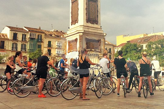 excursion by bicycle in Malaga