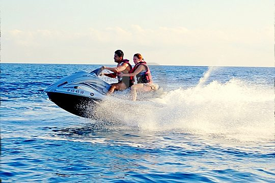 jetskiing at the Mediterranean sea