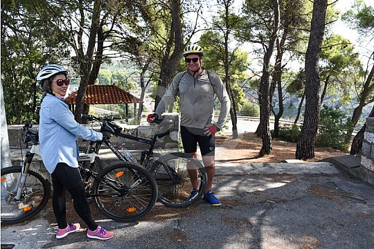 mountain bike tour from Athens in small group