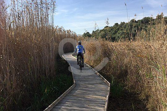 wooden footbridge mountain biking Dénia