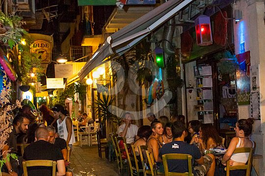 Street restaurants in Chania on Crete