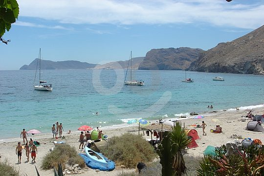 swim stop at sailing from Aguilas