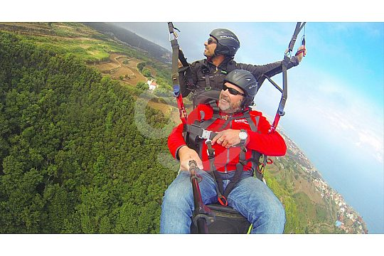 Parachute pilot in Tenerife north