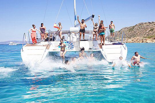Catamaran in the water in Majorca