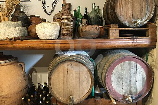 Olive oil and wine barrels on Crete
