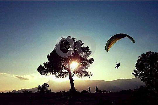 Spaß beim Paragliding