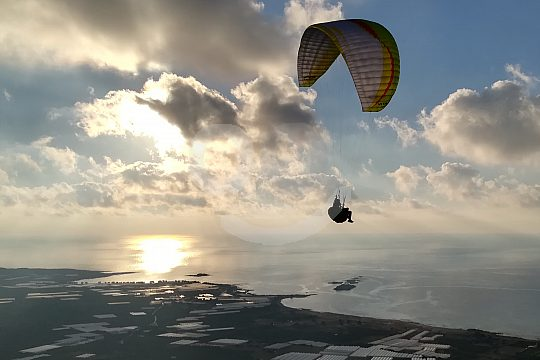 paragliding on the coast of Crete