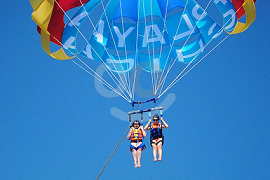 Parasailing two people in Lanzarote