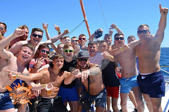 party on the boat in Majorca