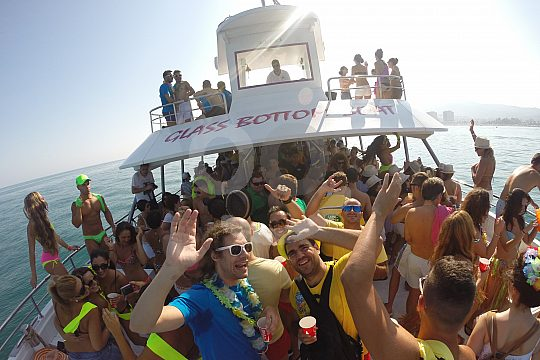 hen party boat tour on the Costa del Sol