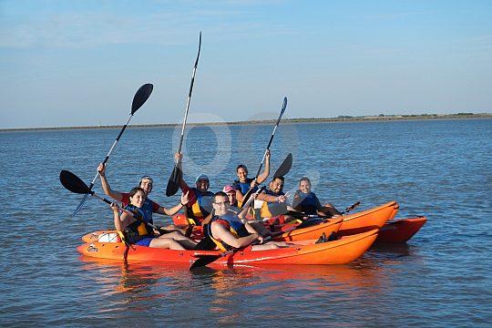 Excursion by kayak through Doñana Natural Park