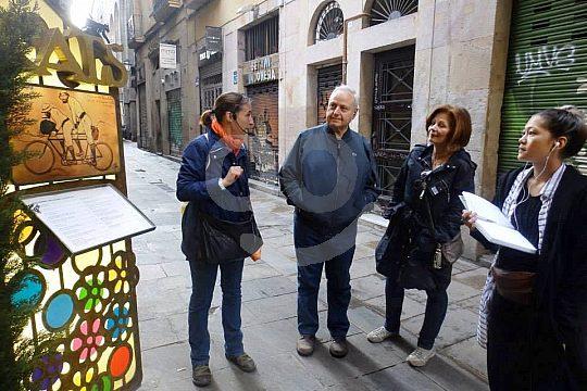 Guided city walk in Barcelona